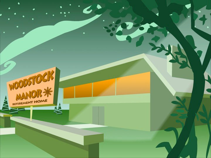 Background painting form the Woodstock Manor short film by Craig Clark. ©Cheeky Ent.
