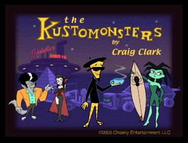 From the Kustomonsters TV show by Craig Clark. ©Cheeky Ent.